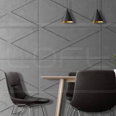 GEO CONCRETE - 3D Wandverkleidung aus architektonischem Beton:  Esszimmer von Loft Design System Deutschland - Wandpaneele aus Bayern,