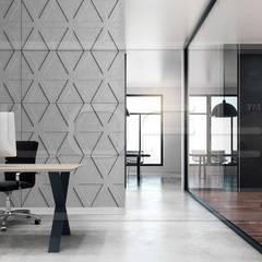 인더스트리얼 서재 / 사무실 by Loft Design System Deutschland - Wandpaneele aus Bayern 인더스트리얼 콘크리트