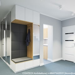 Projekt wnętrz domu jednorodzinnego: styl , w kategorii Korytarz, przedpokój zaprojektowany przez CONTECH Architektura,
