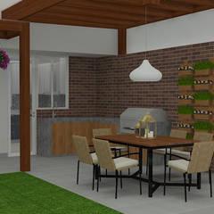 Diseño de Terraza: Terrazas de estilo  por Nathalia Castro Bazan - Arquitecta de interiores