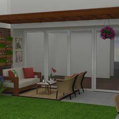 Diseño de Terraza: Terrazas de estilo  por Nathalia Castro Bazan - Arquitecta de interiores, Moderno
