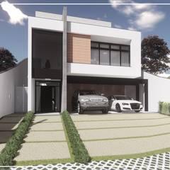 Projeto Residencial em linhas retas.: Condomínios  por Juan Jurado Arquitetura & Engenharia