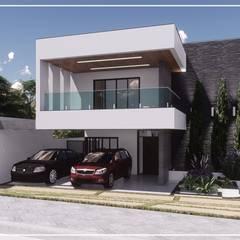Projekty,  Dom szeregowy zaprojektowane przez Juan Jurado Arquitetura & Engenharia,