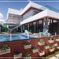 Piscinas de jardín de estilo  por Juan Jurado Arquitetura & Engenharia,