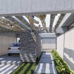 🔋🌱CASA BP 🌱🔋 Vivienda Sustentable Casas rústicas de ARBOL Arquitectos Rústico