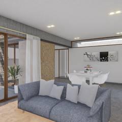 🔋🌱CASA BP 🌱🔋 Vivienda Sustentable Salones rústicos rústicos de ARBOL Arquitectos Rústico