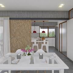 🔋🌱CASA BP 🌱🔋 Vivienda Sustentable Comedores rústicos de ARBOL Arquitectos Rústico
