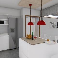 🔋🌱CASA BP 🌱🔋 Vivienda Sustentable Cocinas escandinavas de ARBOL Arquitectos Escandinavo