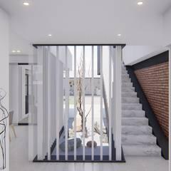 CASA HD: Pasillos y recibidores de estilo  por ARBOL Arquitectos