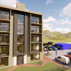 DISEÑO ARQUITECTÓNICO - PROYECTO DE VIVIENDA MULTIFAMILIAR: Habitaciones de estilo  por DS ARQUITECTURA Y CONSTRUCCION