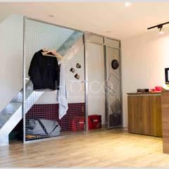 貨櫃屋渡假別墅:  樓梯 by 光合作用設計有限公司