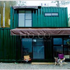 貨櫃屋渡假別墅:  房子 by 光合作用設計有限公司