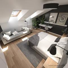 KRAKÓW, KAZIMIERZ, HARMONICA HOUSE - MIESZKANIE NA WYNAJEM KRÓTKOTERMINOWY: styl , w kategorii Sypialnia zaprojektowany przez MIRAI STUDIO