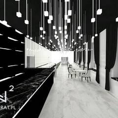 Hoteles de estilo  por Wkwadrat Architekt Wnętrz Toruń
