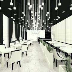 Restauracja hotelowa: styl , w kategorii Gastronomia zaprojektowany przez Wkwadrat Architekt Wnętrz Toruń,