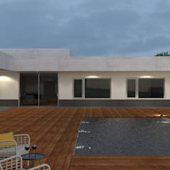 One equals Two: Piscinas  por Limit Studio,Moderno