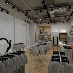Render Retail Italmod en Santiago: Espacios comerciales de estilo  por AUTANA estudio, Minimalista Aglomerado
