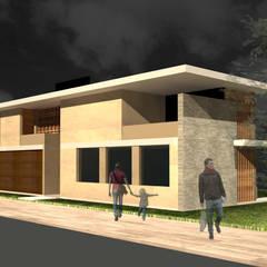 Projekty,  Dom jednorodzinny zaprojektowane przez Pablo Pascale Arquitectura