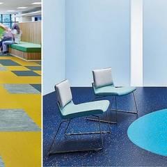 Renkli Zemin Kaplama – Heterojen Pvc Zemin Kaplama:  tarz Ofisler ve Mağazalar