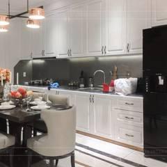 Không gian biệt thự đẹp: Phong cách Tân cổ điển nhẹ nhàng tinh tế:  Phòng ăn by ICON INTERIOR