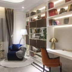 Không gian biệt thự đẹp: Phong cách Tân cổ điển nhẹ nhàng tinh tế:  Phòng học/Văn phòng by ICON INTERIOR