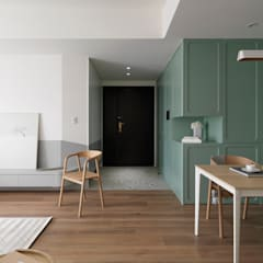 Corridor & hallway by 寓子設計,