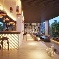 飯店 by Piedra Papel Tijera Interiorismo, 地中海風