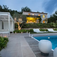 Private Residence in South of France:  Pool by Meg Vaun Interiors, Modern