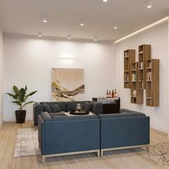 Дизайн інтер'єру двокімнатної квартири в стилі мінімалізм, Київ :  Вітальня by Марина Янченкова