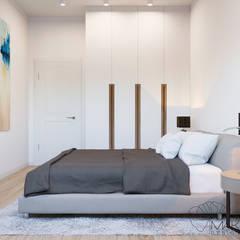 Дизайн інтер'єру двокімнатної квартири в стилі мінімалізм, Київ :  Спальня by Марина Янченкова