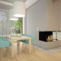 Dom 160m pod Wrocławiem: styl , w kategorii Jadalnia zaprojektowany przez Nevi Studio