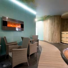 Saunas de estilo  por дизайн-группа 'Лестница'