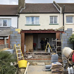 In progress, Rear extension :  Terrace house by STAAC