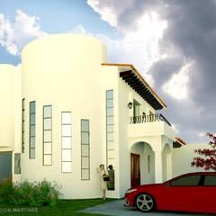 Projekty,  Dom jednorodzinny zaprojektowane przez Arquimuro Arquitectos