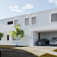 Nhà để xe/Nhà kho by AIDA TRACONIS ARQUITECTOS EN MERIDA YUCATAN MEXICO