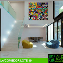 Cầu thang by AIDA TRACONIS ARQUITECTOS EN MERIDA YUCATAN MEXICO