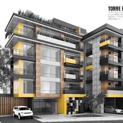 Torre Bello Horizonte : Espacios comerciales de estilo  por ProcesoLAB Arquitectos