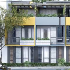 Casas moad: Casas de estilo  por ProcesoLAB Arquitectos