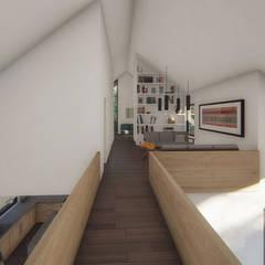 Casa VL: Pasillos y hall de entrada de estilo  por Estudio Sur Arquitectos