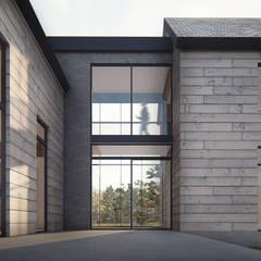 Chalets de estilo  por Estudio Sur Arquitectos, Moderno