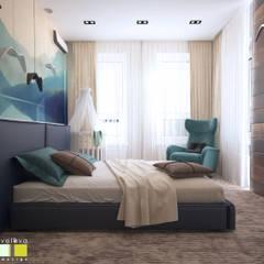 Путешествие в мечты: Спальни в . Автор – Мастерская интерьера Юлии Шевелевой, Эклектичный
