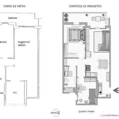 Casas pequeñas de estilo  por Planimetrie Realistiche