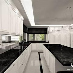 Kuchnia w stylu angielskim: styl , w kategorii Kuchnia na wymiar zaprojektowany przez Wkwadrat Architekt Wnętrz Toruń,Klasyczny Kamień