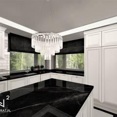Kuchnia w stylu angielskim: styl , w kategorii Kuchnia na wymiar zaprojektowany przez Wkwadrat Architekt Wnętrz Toruń,Klasyczny Marmur