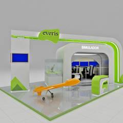 Diseño de Stand para Everis: Centros de exhibiciones de estilo  por AUTANA arquitectos