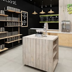 Offices & stores by AUTANA estudio, Rustic Wood Wood effect