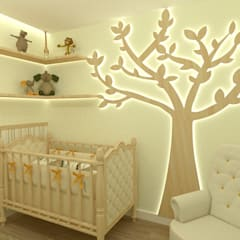 Cuartos para bebés de estilo  por JR DECOR - Design de Interiores, Tropical