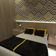 Kleine slaapkamer door JR DECOR - Design de Interiores, Modern