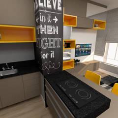 STUDIO CPN (Centro): Cozinhas pequenas  por JR DECOR - Design de Interiores