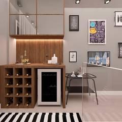 Apartamento Recreio dos Bandeirantes I: Adegas  por CaPra Arquitetura e Interiores